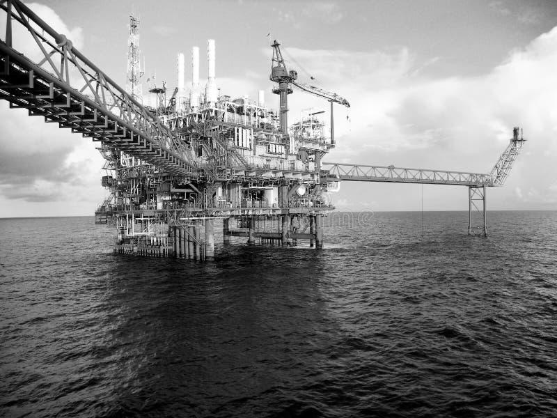 Offshoreindustrieöl und -gas lizenzfreies stockbild