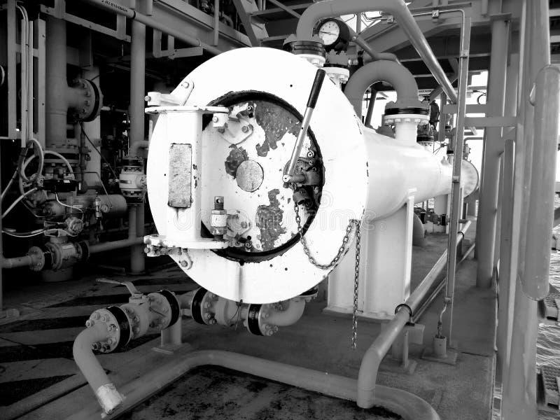 Offshoreindustrieöl und -gas lizenzfreie stockfotografie