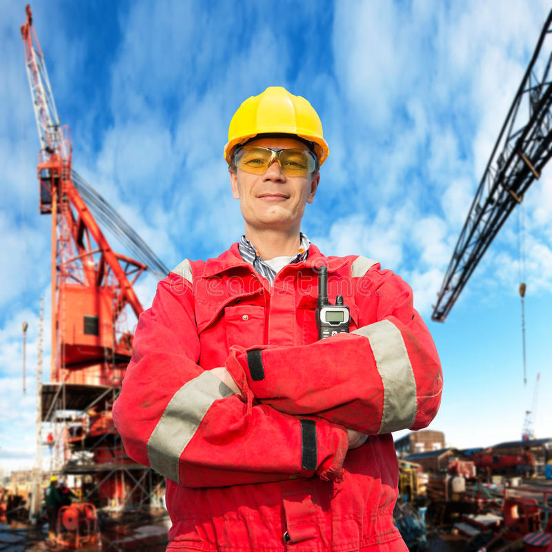 Offshoreingenieur lizenzfreies stockfoto