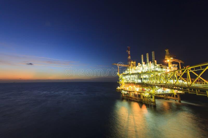 Offshoreplattform stockbilder