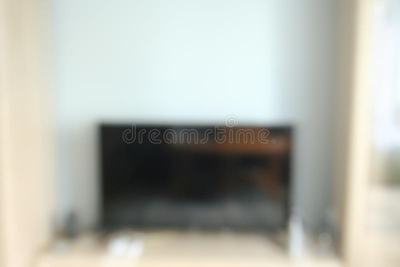 Offuschi il fondo di immagine, decorazione interna nella casa bianca fotografia stock libera da diritti