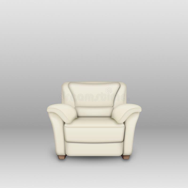 offwhite sofa vektor illustrationer