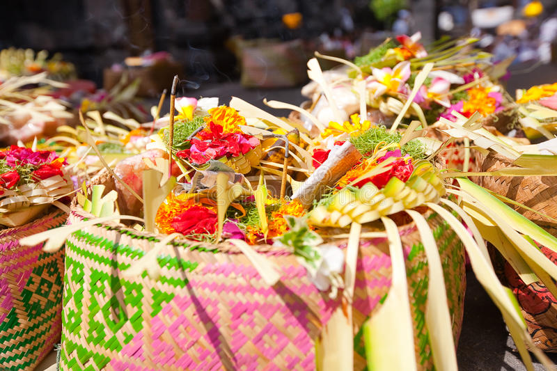 Ofiary bóg w Bali obrazy stock