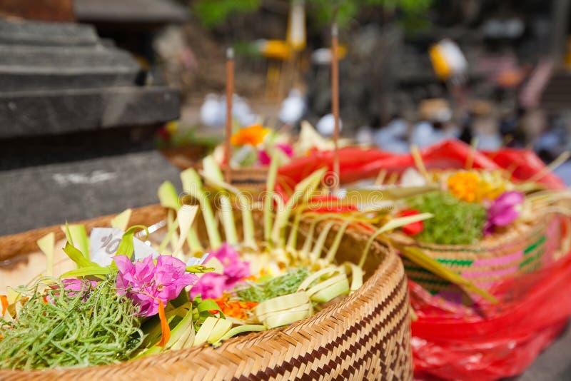 Ofiary bóg w Bali zdjęcia royalty free