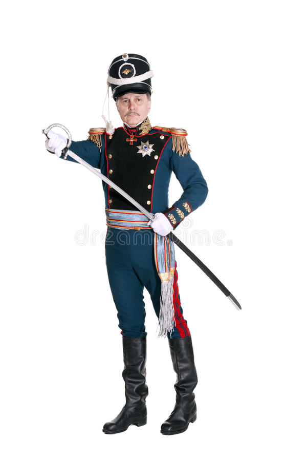 Oficer Chroni Końską artylerię zdjęcia royalty free