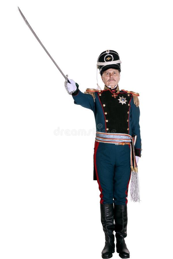Oficer Chroni Końską artylerię zdjęcie royalty free