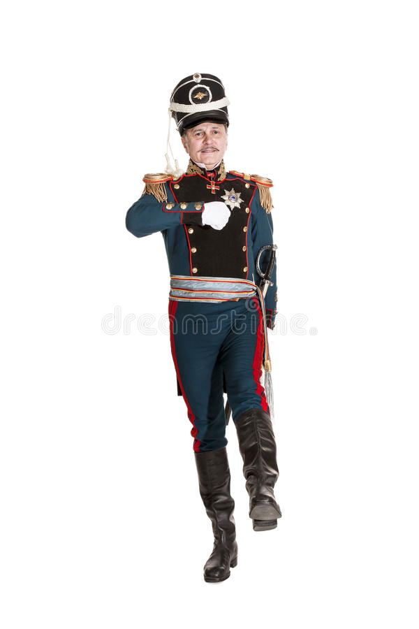 Oficer Chroni Końską artylerię fotografia stock