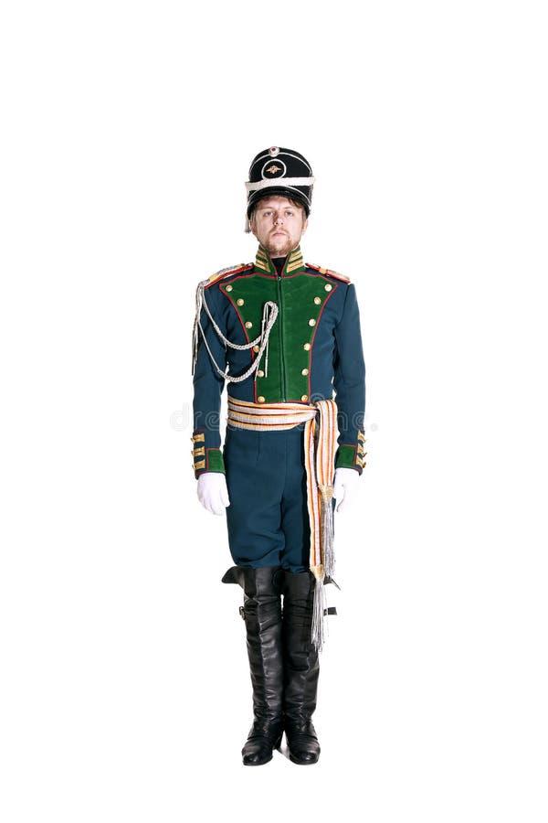 Oficer strażnika Jaeger pułk zdjęcia royalty free