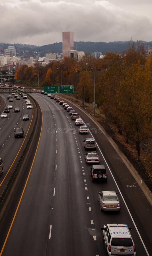 Oficera Libke autostrady korowód Portland zdjęcie royalty free