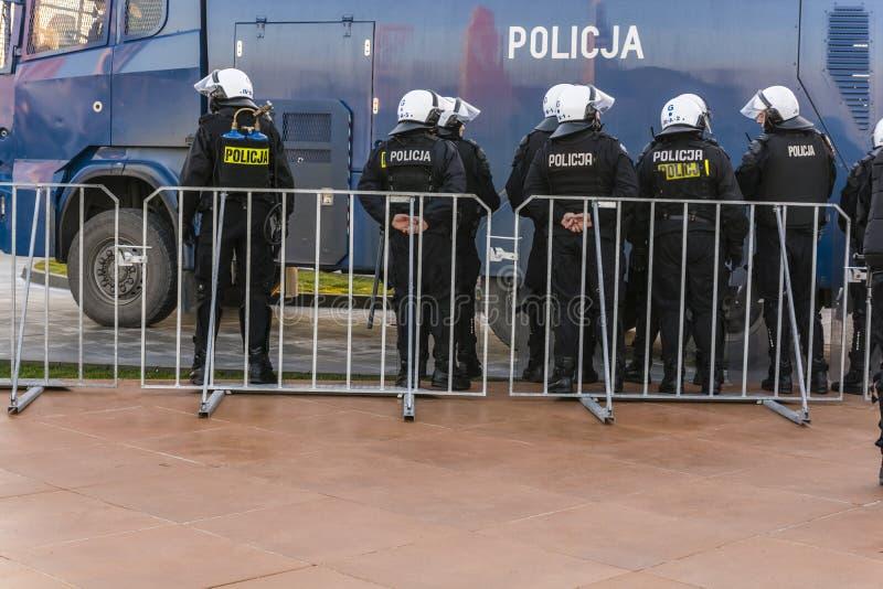 Oficery Milicyjny zapobieganie dział (Polska) obraz stock