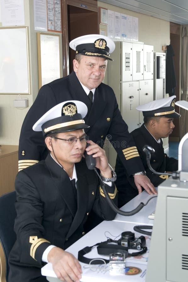 Oficiais da navegação imagem de stock