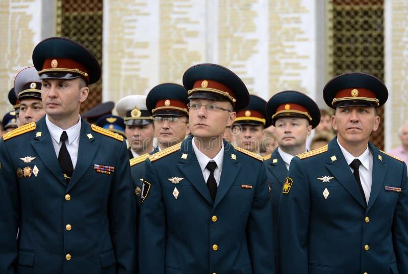 Oficiais de tropas internas do MIA de Rússia fotos de stock