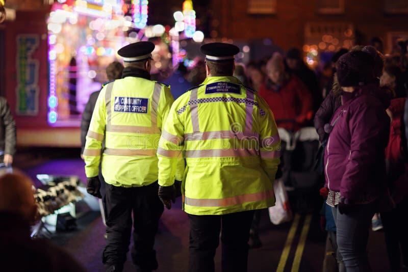 Oficial britânico do apoio comunitário da polícia fotografia de stock