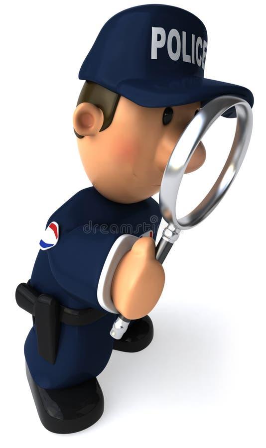 Oficial de policía stock de ilustración