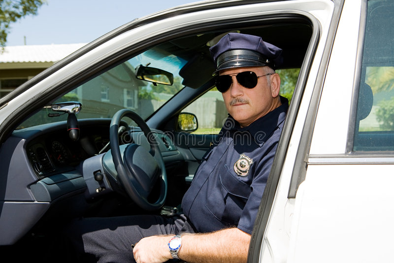 Oficial de policía de servicio fotografía de archivo libre de regalías