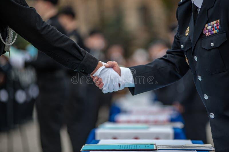 Oficial de policía Oath fotografía de archivo libre de regalías