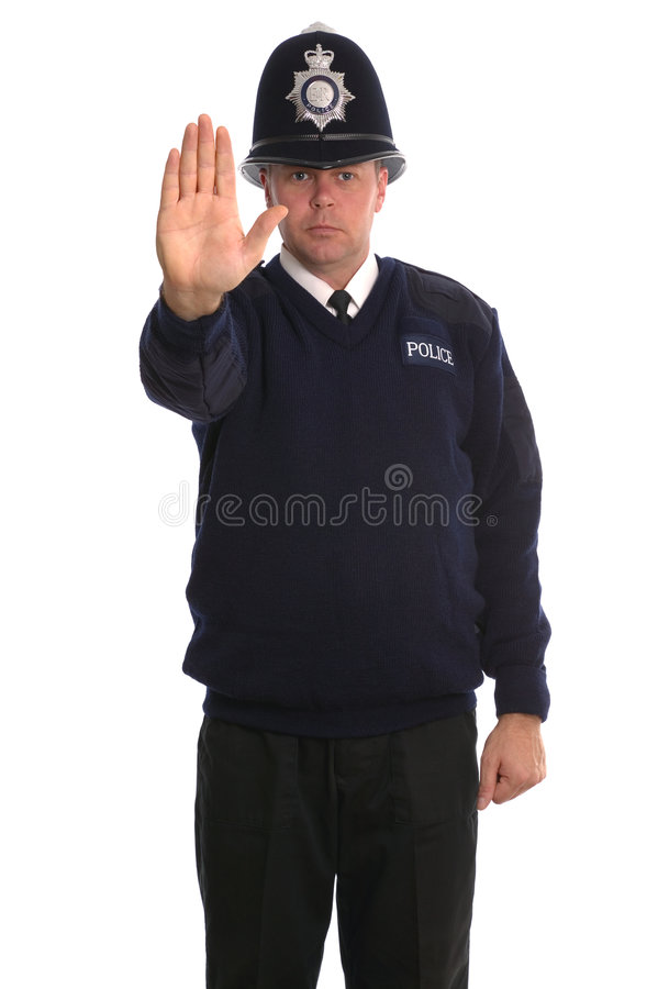 Oficial de policía - parada fotos de archivo