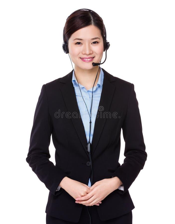 Oficial dos serviços ao cliente fotos de stock
