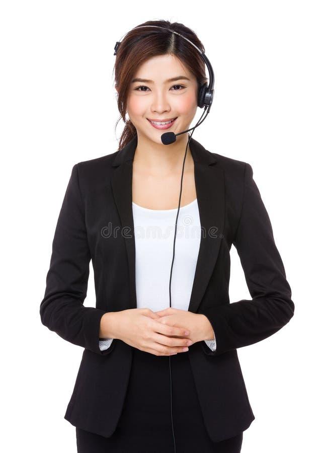 Oficial dos serviços ao cliente fotografia de stock royalty free