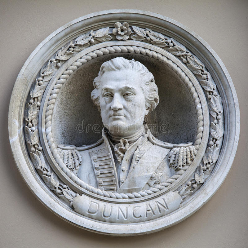 Oficial Henry Duncan Medallion Bust em Greenwich imagem de stock royalty free