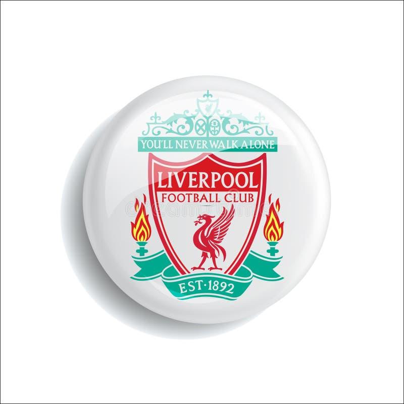 Oficial novo do molde do logotipo do futebol do futebol ilustração royalty free