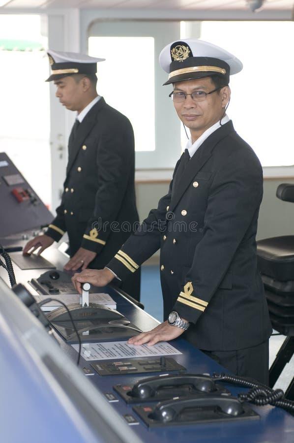 Oficiales de la navegación fotografía de archivo