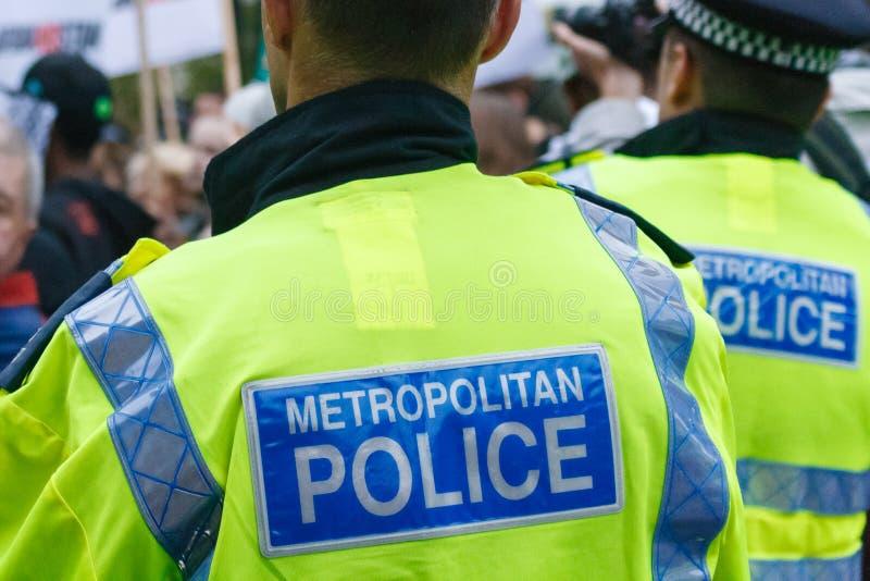 Oficiales de policía de servicio fotografía de archivo