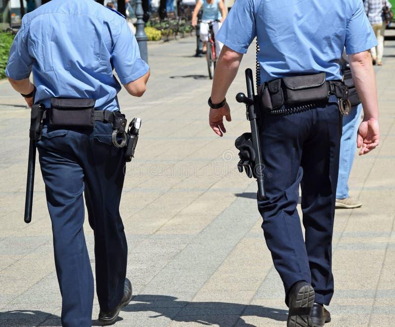 Oficiales de policía en la calle Melbourne de Swanston fotografía de archivo libre de regalías