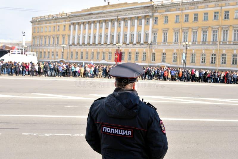 Oficiales de policía rusos fotografía de archivo