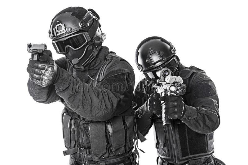 Oficiales del GOLPE VIOLENTO fotografía de archivo libre de regalías