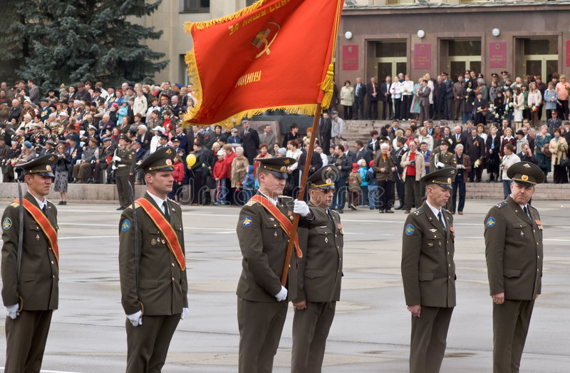 Oficiales rusos foto de archivo