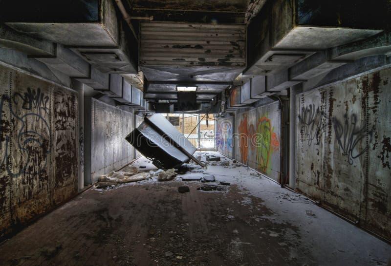 Oficina abandonada fotografía de archivo