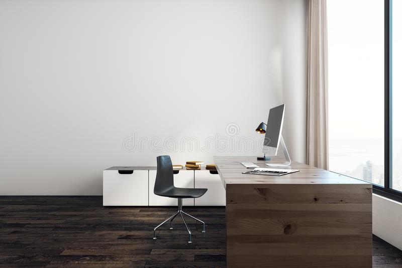 Oficina blanca con el espacio de la copia libre illustration