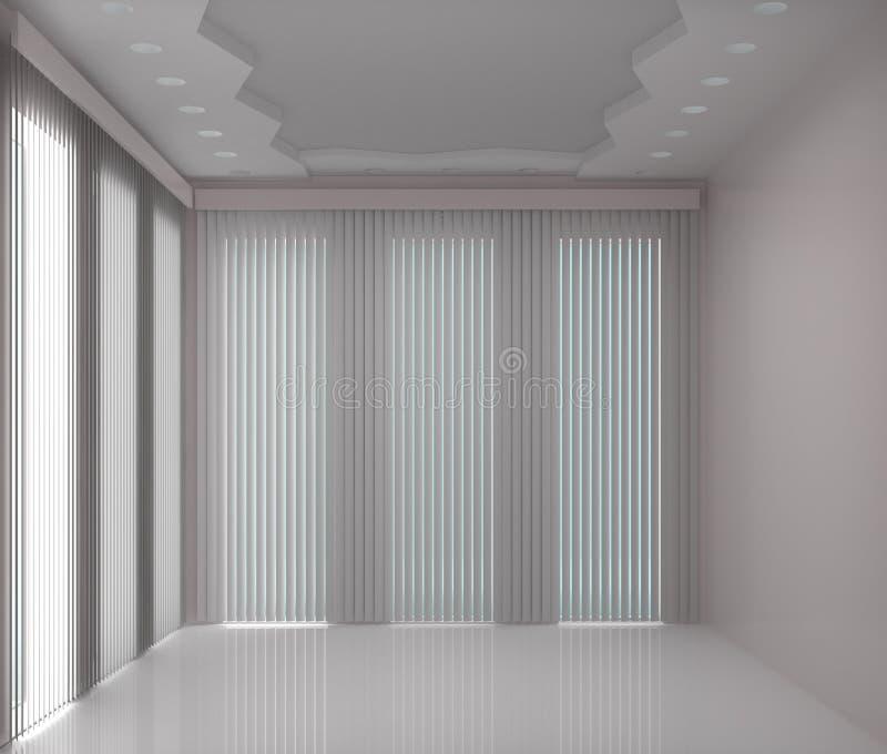 Oficina con las ventanas grandes libre illustration