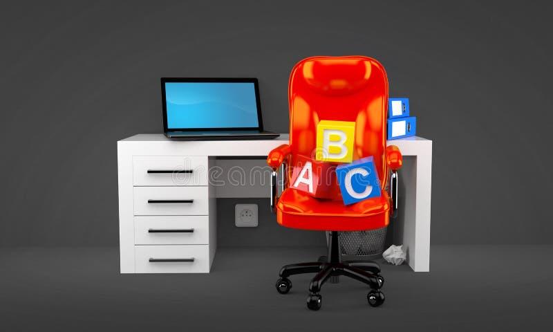 Oficina con los bloques del juguete libre illustration