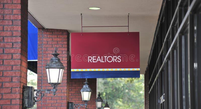 Oficina de agencia del agente inmobiliario fotos de archivo libres de regalías