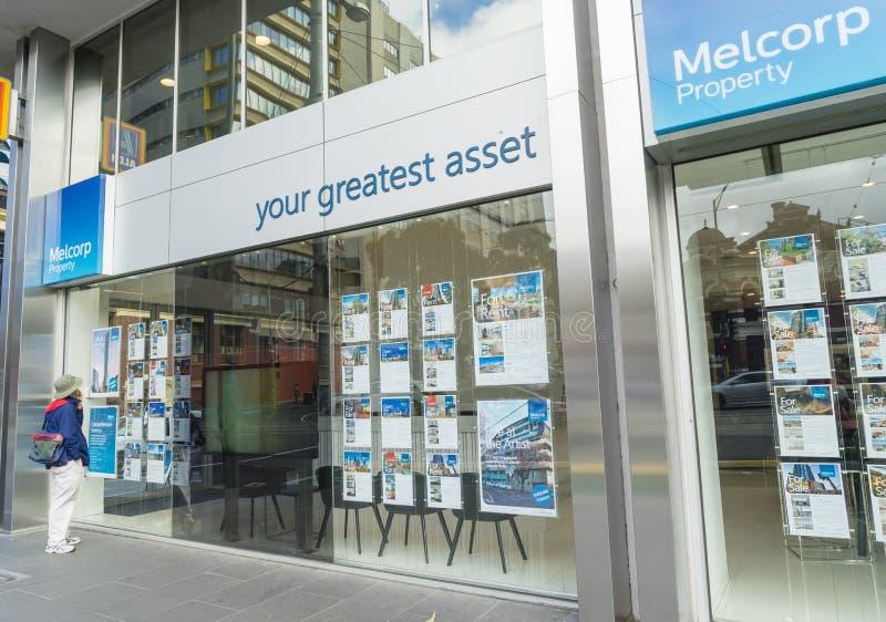 Oficina de agencia inmobiliaria real en Melbourne fotografía de archivo libre de regalías