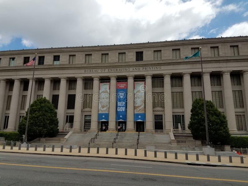 Oficina de edificio del grabado y de la impresión fotografía de archivo libre de regalías
