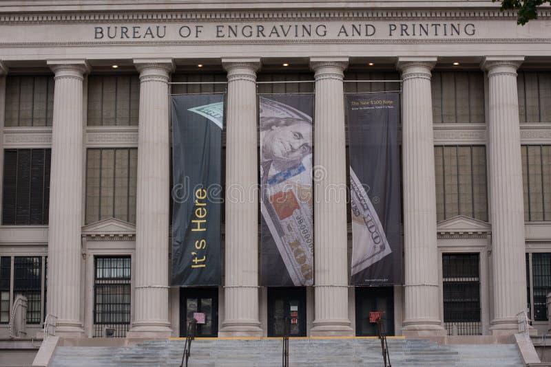 Oficina de grabado y de impresión foto de archivo
