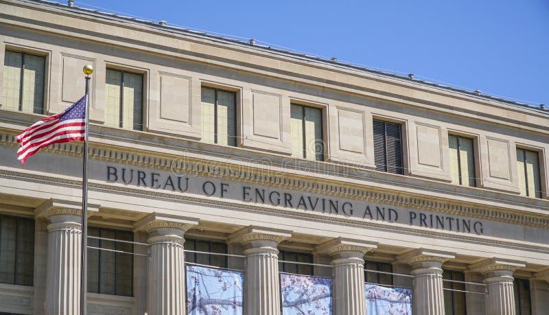 Oficina de grabado y de impresión en Washington DC - WASHINGTON, DISTRITO DE COLUMBIA - 8 de abril de 2017 foto de archivo