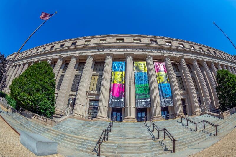 Oficina de grabado y de impresión, Washington DC, los E.E.U.U. fotos de archivo libres de regalías