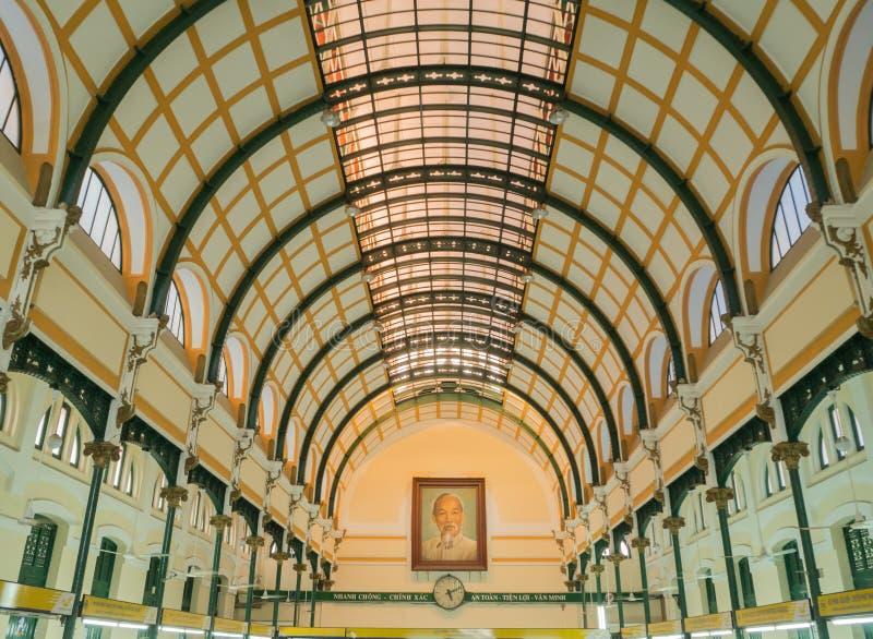 Oficina de Ho Chi Minh Central Post fotos de archivo libres de regalías