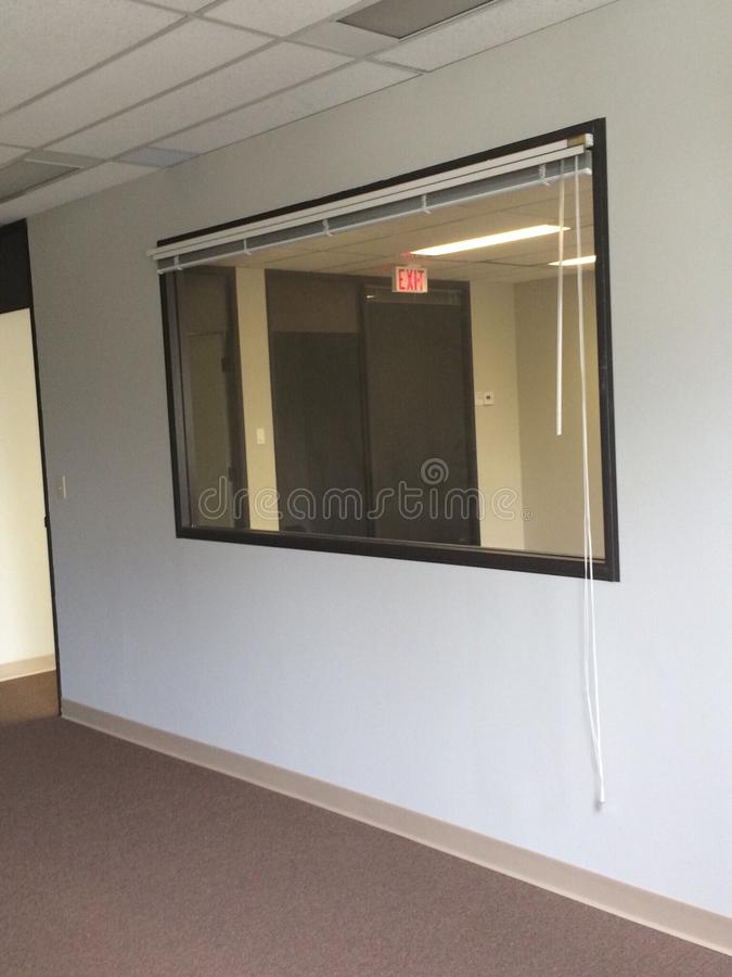 Oficina de la ventana foto de archivo libre de regalías