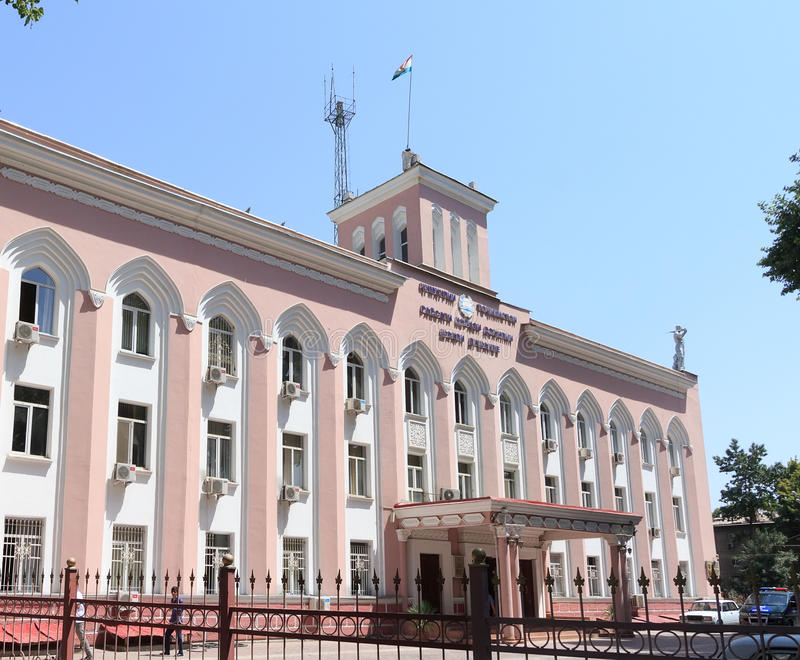 Oficina de los asuntos internos de la República de Tayikistán Dushan fotos de archivo
