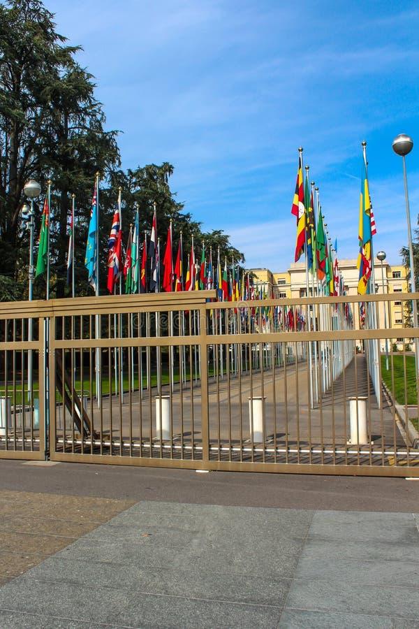 Oficina de Naciones Unidas en Ginebra, Suiza fotos de archivo libres de regalías