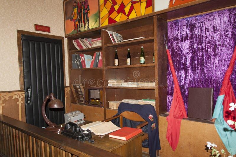 Oficina de negocios de producción de vino en la foto soviética Shabo, región de Odessa, Ucrania del estilo, el 20 de junio de 201 imagen de archivo libre de regalías