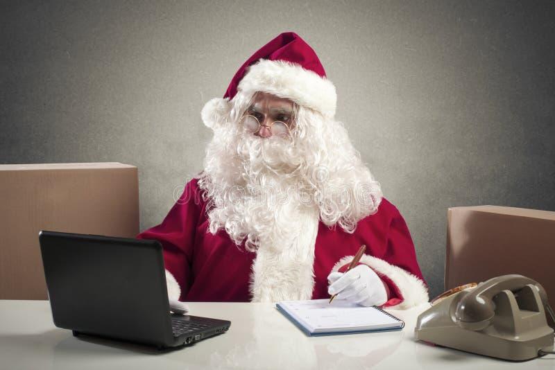 Oficina de Santa Claus foto de archivo libre de regalías