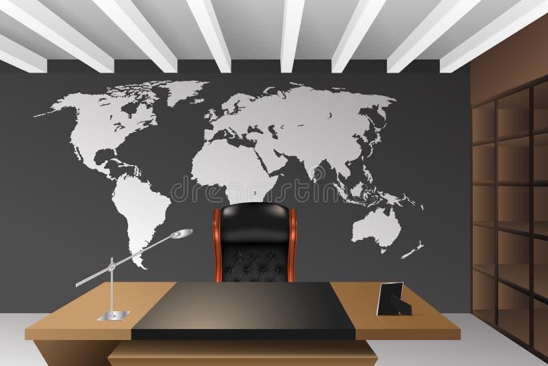 Oficina del director stock de ilustración