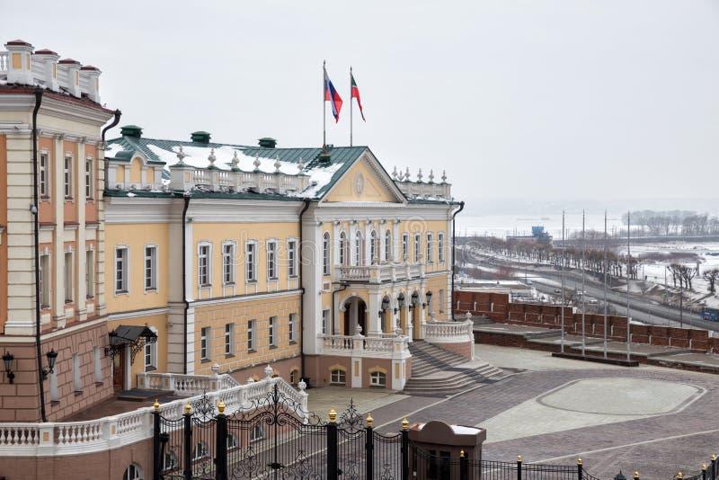 Oficina del edificio del presidente de la república Tartaristán imagenes de archivo