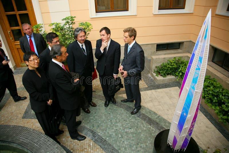 Oficina del Gazprom-Petróleo de la compañía foto de archivo libre de regalías